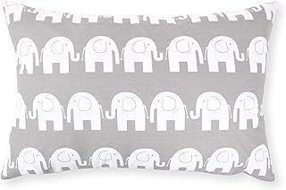 Amilian - Funda de cojín (40 x 60 cm), diseño de elefante, color gris
