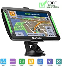 GPS Navigation for car Marbaka 7 inch 8GB Vehicle GPS Navigation System with Built-in Lifetime Maps,FM Car Navigation and Spoken Turn-by-Turn Directions