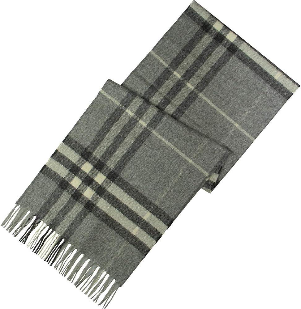 Burberry ,sciarpa gigante unisex , in cashmere, colore: grigio 8015532