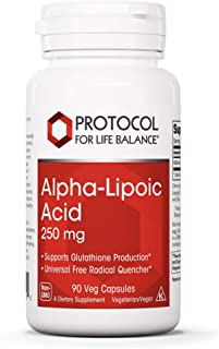 Protocol For Life Balance - Alpha-Lipoic Acid 250 mg - Universal Free Radical Quencher, Helps Support Nervous System, Prov...