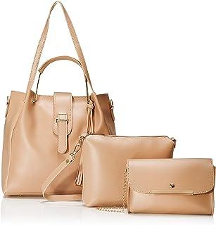 Envias Women's Handbag (Set of 3) (EVS-097_Off-White)