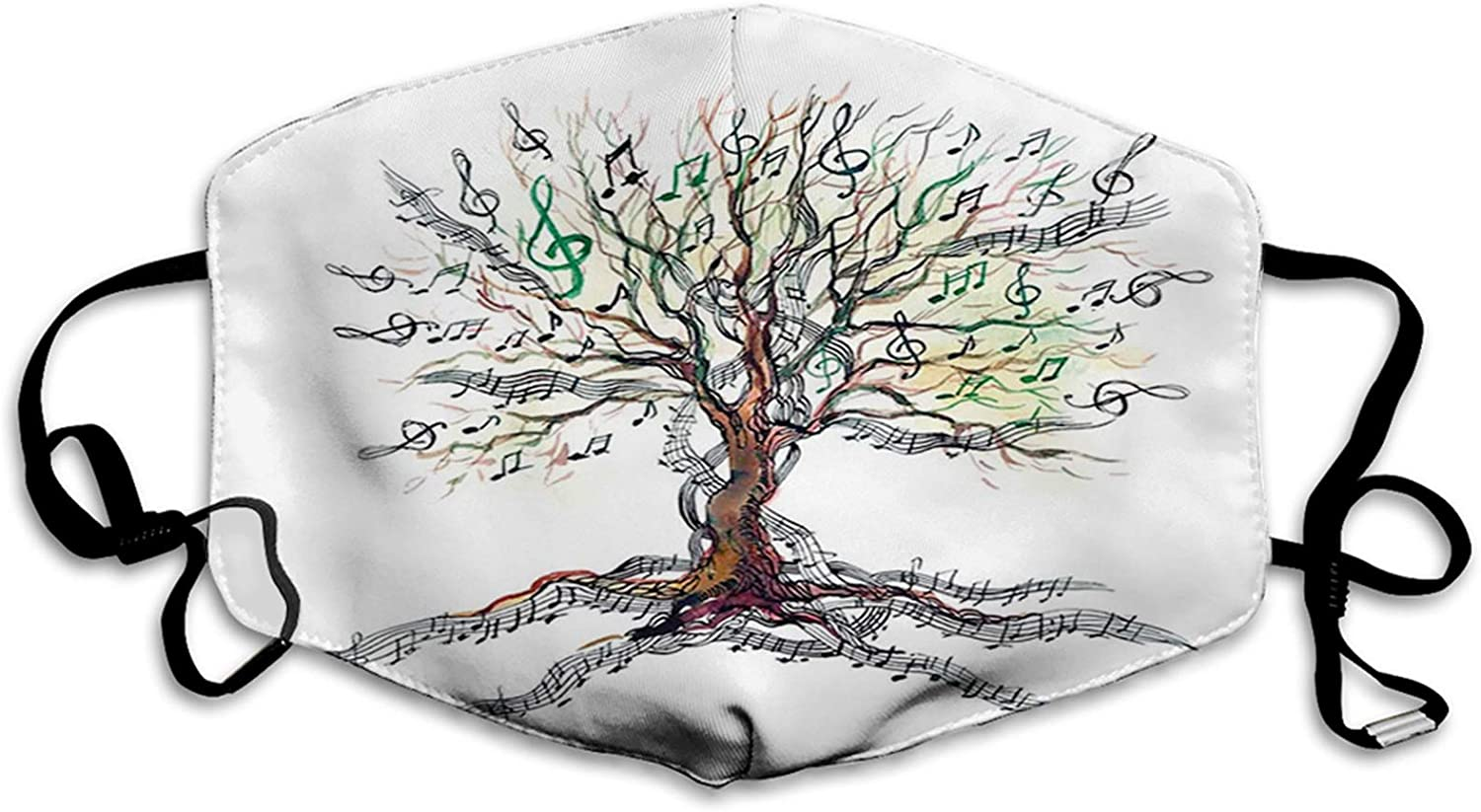 Mens Womens Mouth New sales Scraf Face Dedication Music Tree T Musical Autumnal Clef
