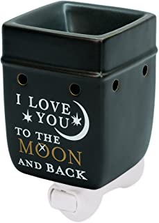 Love You to The Moon Ceramic Stoneware Electric Plugin Outlet Wax and Oil Warmer