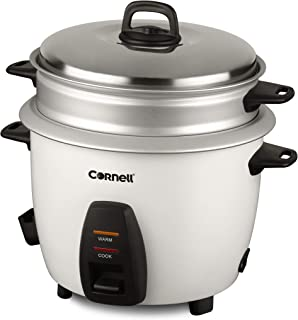 Cornell CRCCS102ST 1.0L Rice Cooker w/Steam Tray Silver