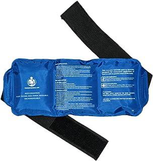 Paquete de hielo de gel reutilizable y flexible con correa para aliviar el dolor | mejor