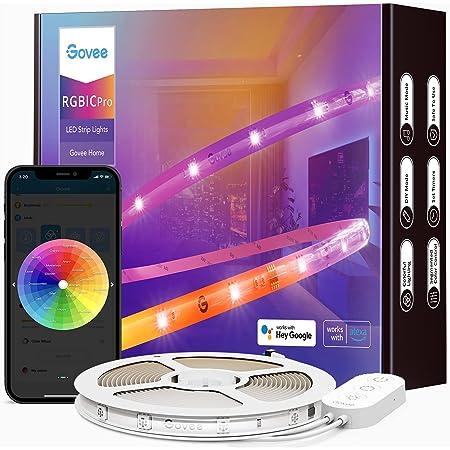 Govee RGBIC Pro LED Strip 5m, Smart LED Strip funktioniert mit Alexa und Google Assistant, beschichtes Lichtband Sync mit Musik, App-Steuerung, Farbwechsel, geeignet für Zuhause Schlafzimmer Gaming