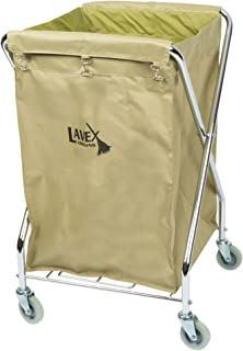 Lodging Commercial Laundry Cart/Trash Cart, 10 Bushel Folding Metal Frame and Canvas Bag by TableTop King