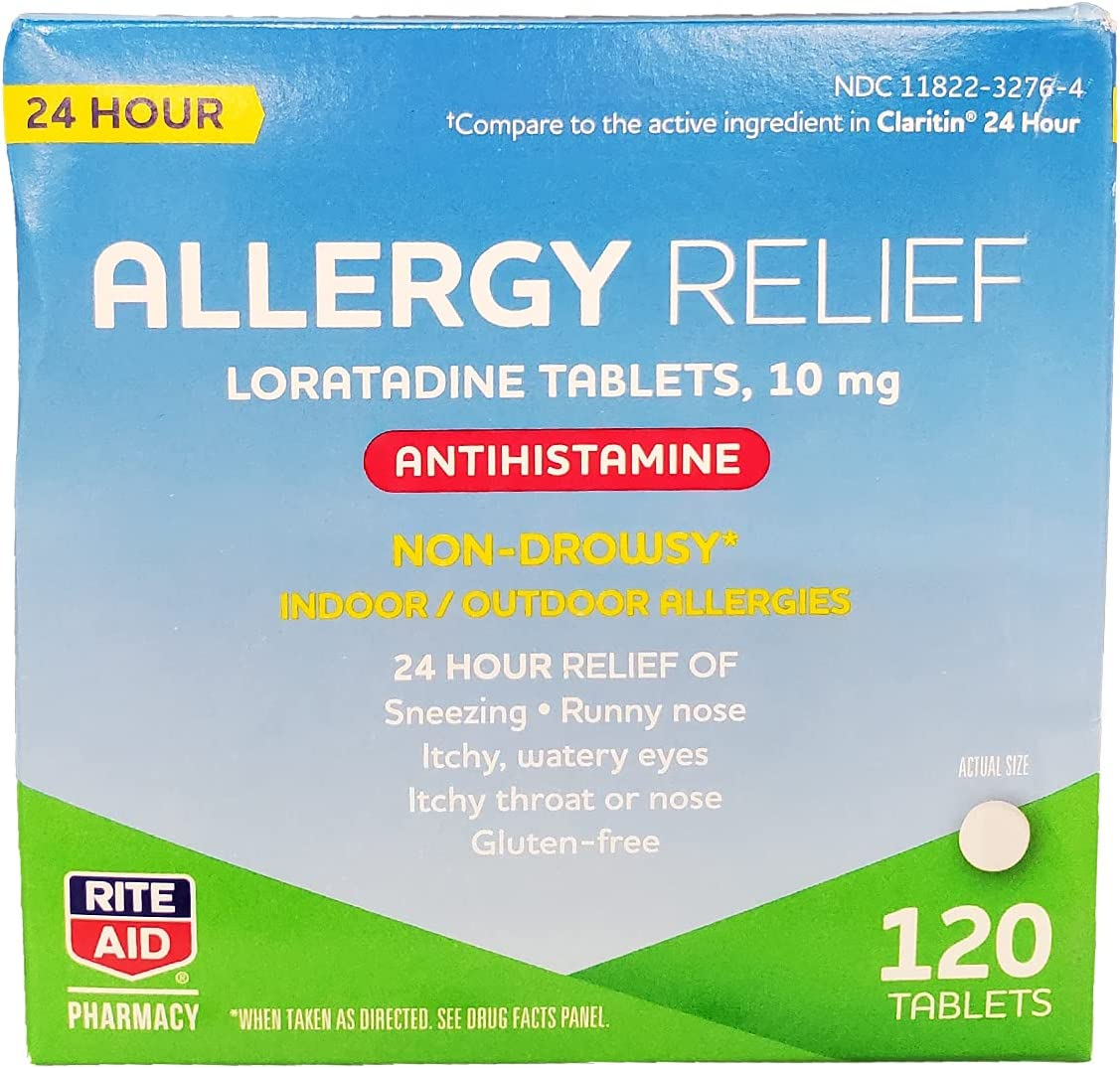 Rite Dealing full price reduction Aid 24 Hour Loratadine 10 Brand new Relief - Allergy mg 10mg Tablets
