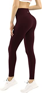 "BUBBLELIME 2 Styles 25""/26""/27""/28"" Basic/5.5"" Super High Waist Yoga Pants Running Workout Leggings Tummy Control"