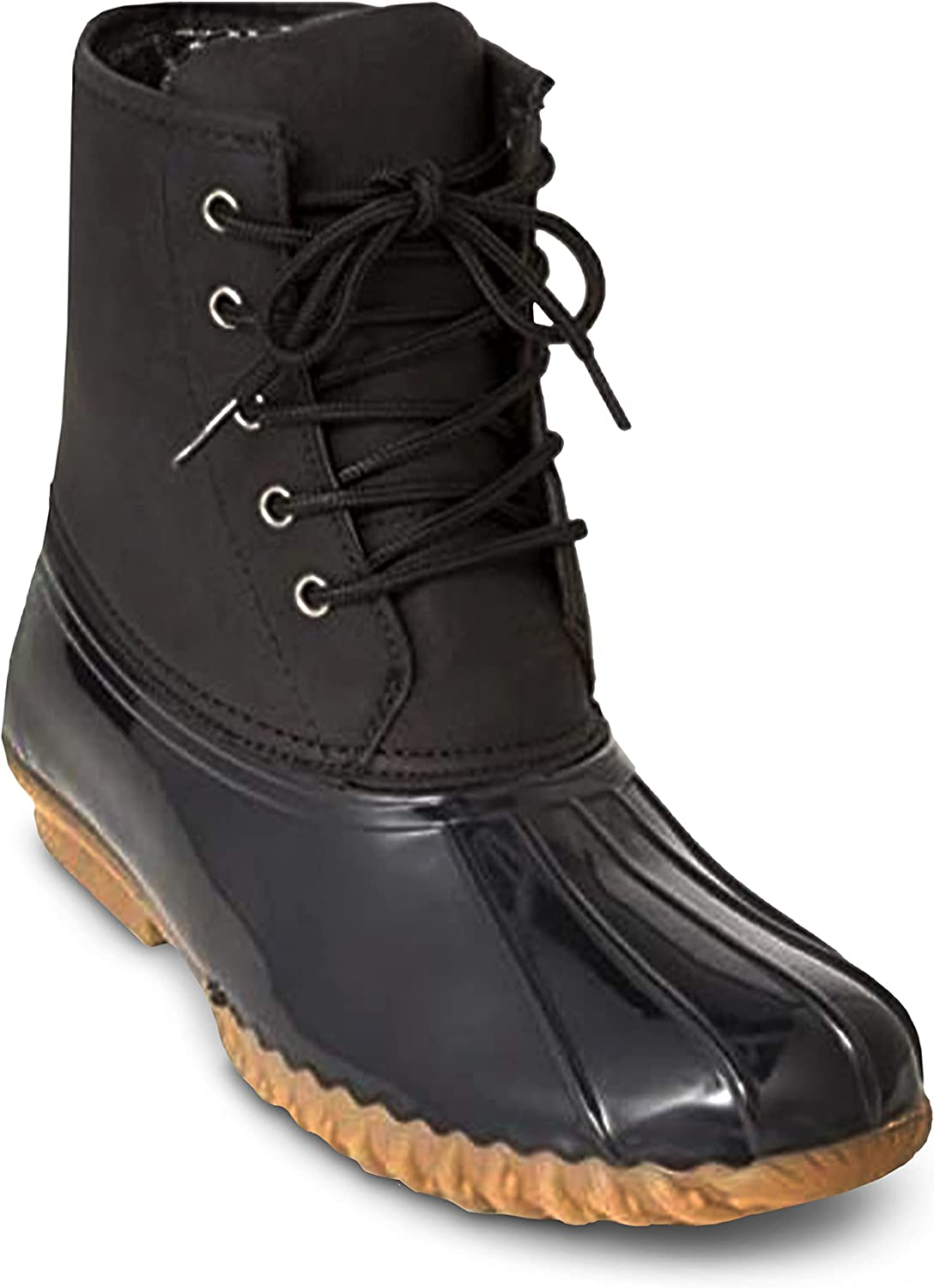 Charles Albert Women's Winter Duck Boots, Mid-Calf, Waterproof Insulated Lace-Up