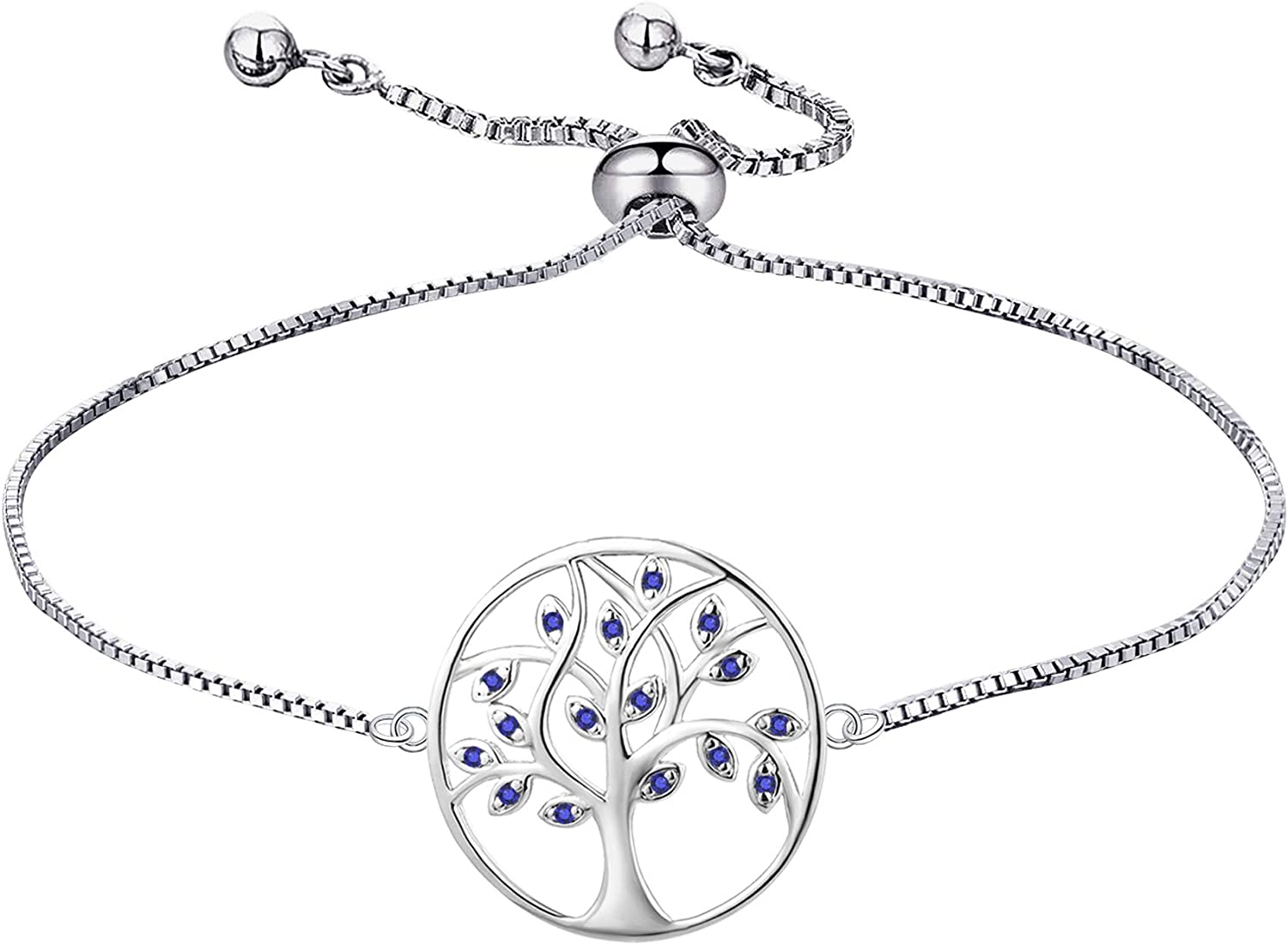 YL 925 Sterling Silver Bracelet 100% quality warranty! Tree Free shipping on posting reviews Zir Bracelets Life Cubic of