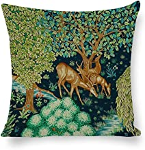 Decorative Pillow Covers William Morris Deer by A Brook Tapestry Throw Pillow Case Cushion Cover Home Office Decor,Square ...