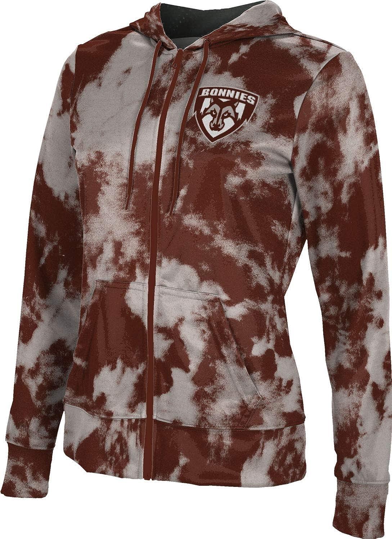 St. Bonaventure University Girls' Zipper Hoodie, School Spirit Sweatshirt (Grunge)