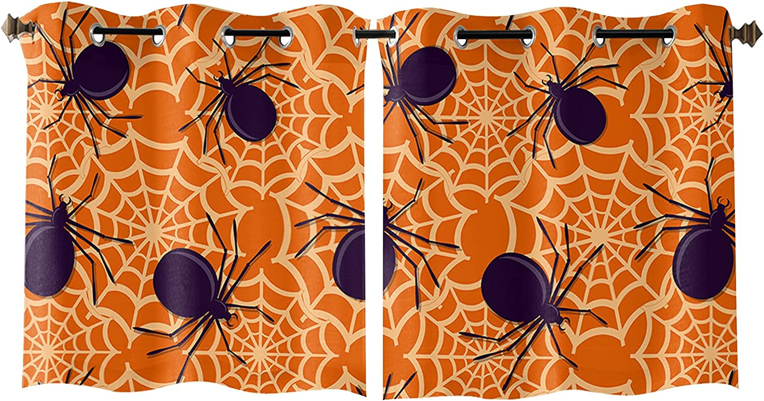 Window Curtain Drapes Al sold out. 2 Panels T Spider-Web Set Halloween Sales of SALE items from new works