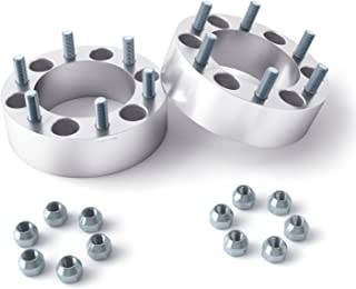 RockTrix 2pcs 2 inch Wheel Spacers (6x5.5 to 6x5.5, 108mm bore, 12x1.5 Studs) Compatible with Chevy Colorado GMC Canyon Honda Passport Hummer H3 H3T Lexus GX470 Toyota Tacoma Tundra (6x139.7, 50mm)