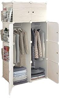 Garde-robe XINYALAMP Armoire Portable de modulable pour Chambre à Coucher Armoire de Rangement en résine Cônière à Permanence