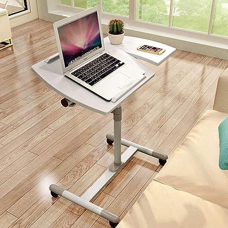 per laptop tavolino da caff/è facile da montare Odegltina bianco Tavolino da letto da portata tavolino in metallo regolabile in altezza divano