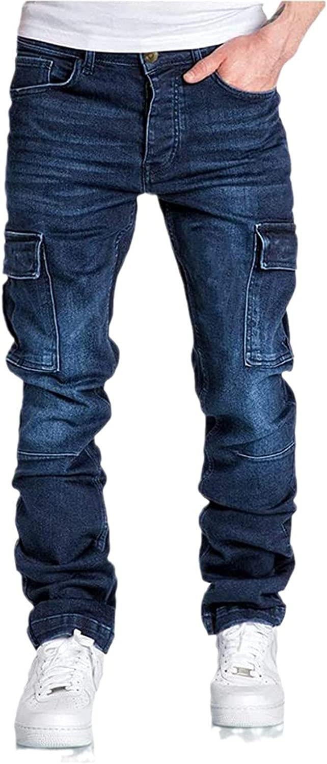 MUATE Mens Hardwearing Comfortable Free Shipping New Now free shipping Multi-Pocket Trousers Tooling