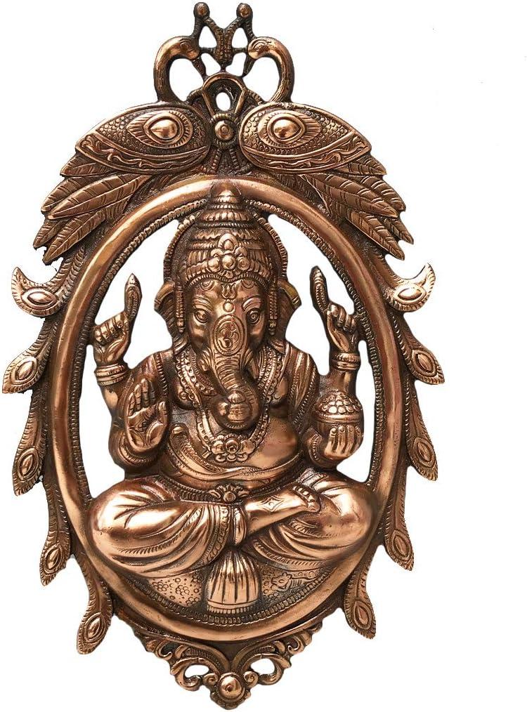 Apka Mart The Online Shop Traditional Wall 現品 Ganesha 18 Plate オーバーのアイテム取扱☆ Oval