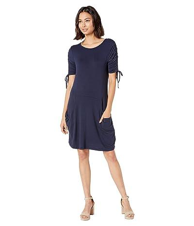 kensie Drapey French Terry Dress KS8K8345 (French Navy) Women