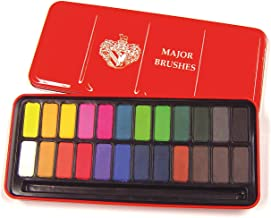Major Brushes Z1003 Watercolour Block Tin Set of 24 Colours