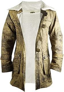 Tom Hardy The Dark Knight Rises Crocodile Buffing Bane Distressed Brown Fur Leather Coat