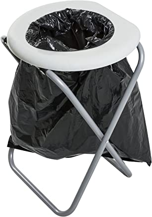 Andes Portable Folding Outdoor Camping Toilet With 10 Bags - For Outdoor, Camping, Fishing or Festival Use