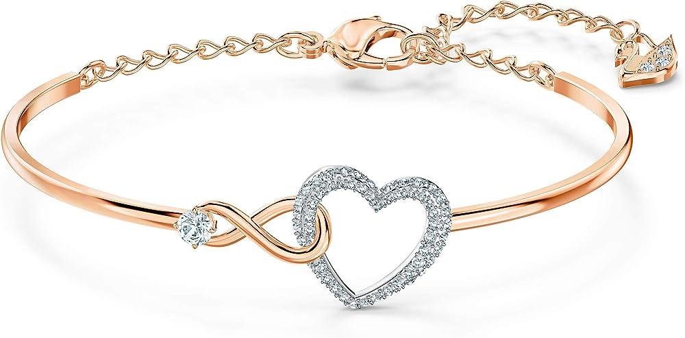 swarovski bracciale rigido infinity heart 5518869