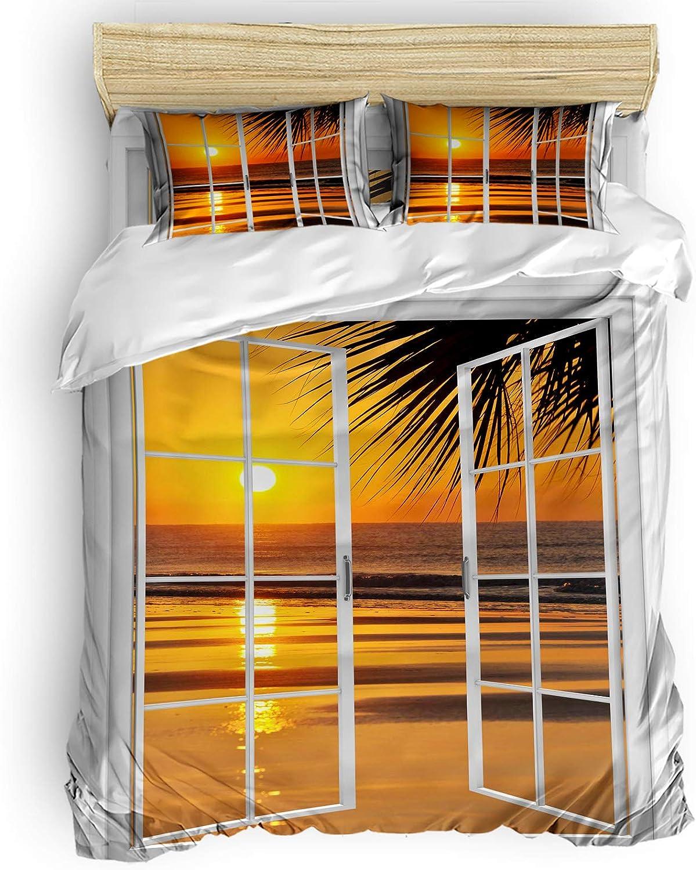 Duvet Cover Set Full Discount mail order Size Choice Ocean Sunset T Golden Sundown Coastal