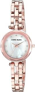 Anne Klein Women's  Swarovski Crystal Accented Rose Gold-Tone Open Bracelet Watch