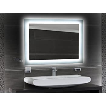 Badspiegel Designo Ma4110 Mit A Led Beleuchtung B 40 Cm X H