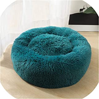 Luxury Round Dog Bed Warm Deep Sleep Donut Pet Beds for Cat Small Medium Large Dogs Long Pile Fur Puppy Mat Soft Round Dog House