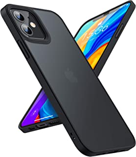 TORRAS Shockproof Designed for iPhone 12 Case/Designed for iPhone 12 Pro Case, [Military Grade Drop Tested] Translucent Ma...