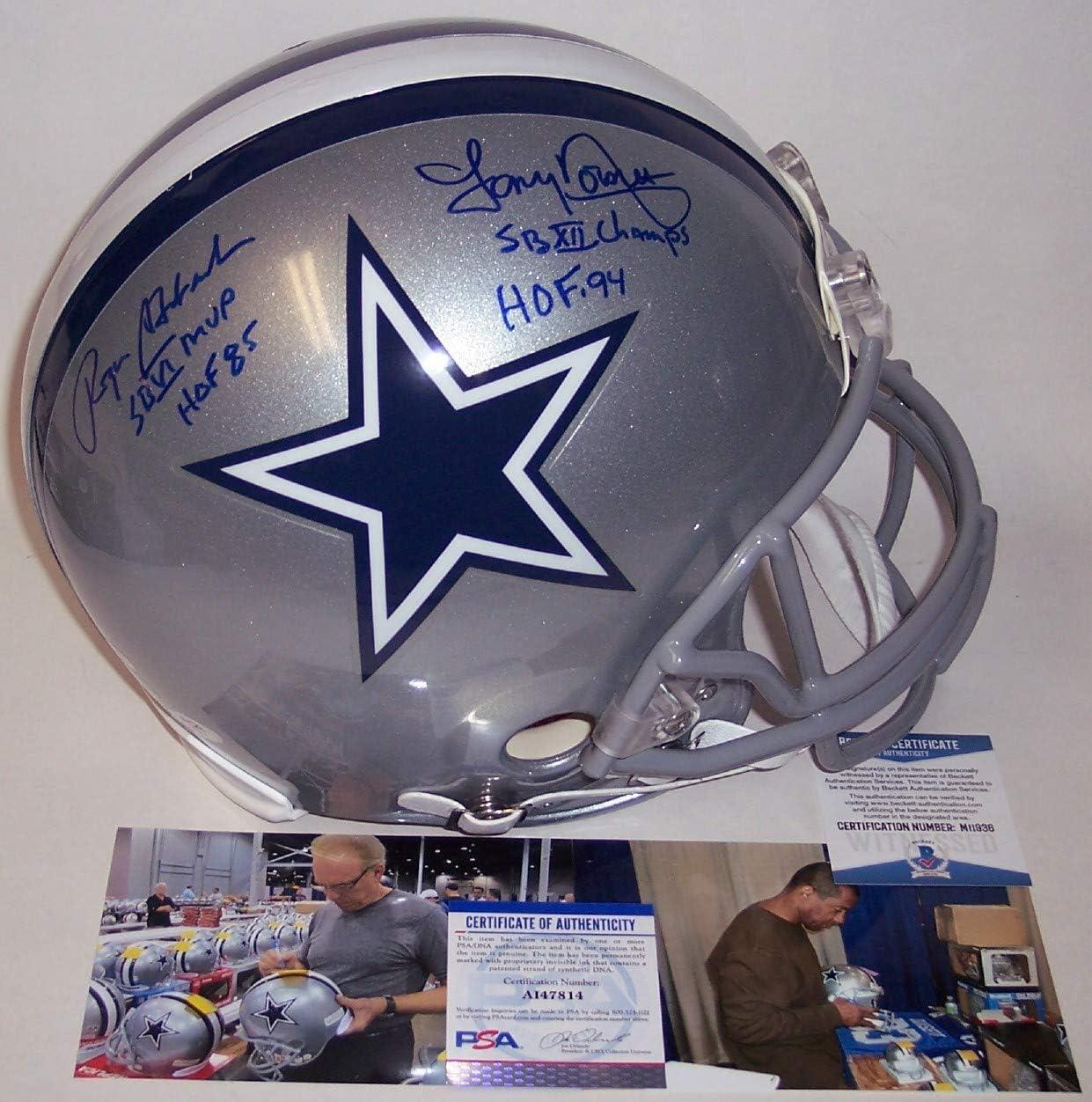Roger Staubach Max 59% OFF Tony Dorsett Autographed Dallas Cow Signed Louisville-Jefferson County Mall Hand