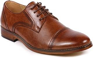 MC125 Men's Cap Toe Lace Up Oxford Dress Shoes