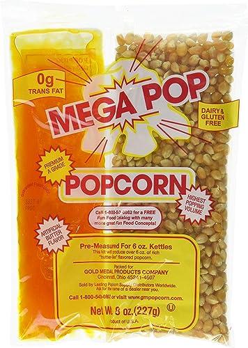 Perfectware 8oz Popcorn Portion Packs- (Box of 6 Portion Packs)