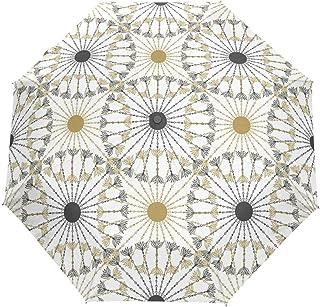 rodde Parapluie Vintage Bohème Indien Turc Floral Mandala Auto Ouvert Fermer Soleil Pluie Parapluie