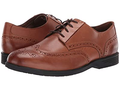Hush Puppies Shepsky Wing Tip Oxford (Dark Tan Leather) Men
