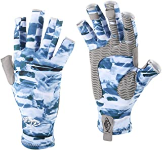 Palmyth UV Protection Fishing Fingerless Gloves UPF50+ Sun Gloves Men Women for Kayaking,..