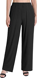 Weintee Women's Palazzo Pants Wide Leg Lounge Pants with Pockets