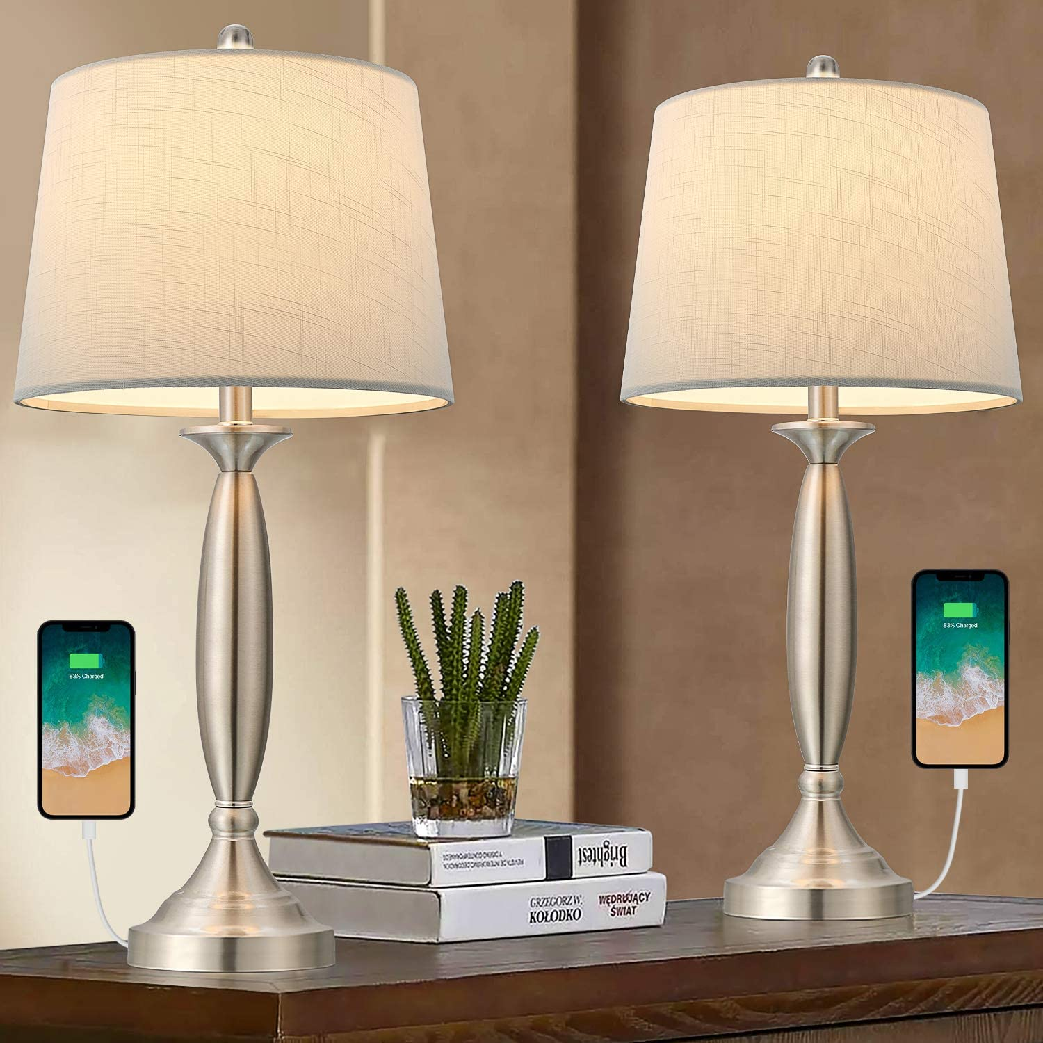 Oneach USB Table Lamp Modern Lamps Our shop Luxury most popular of Living for Set 2 Roo