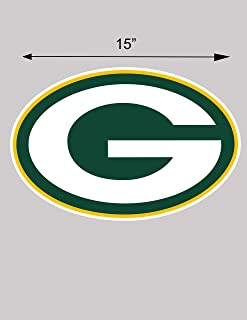 2 Green Bay Packers NFL vinyl sticker decal for cornhole 15