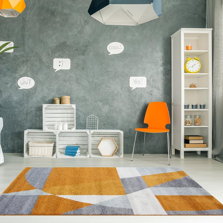 artículos novedosos The Rug House Alfombra Rio para Salas con diseo Moderno Moderno Moderno Abstracto y Colors resaltantes Terracota Naranja blancoo Hueso y gris 120cm x 170cm (3'11  x 5'7 )  almacén al por mayor
