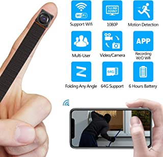 Mini Hidden Camera WiFi Wireless Spy Camera HD 1080P Nanny Cam Motion Detection Recording for Home Office Security, IP Camera Recording Indoor Outdoor