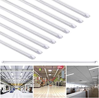 Yescom 4Ft T8 LED Tube 6500K Fluorescent Tube Retrofit Replacement, Clear Cover Dual-Ended