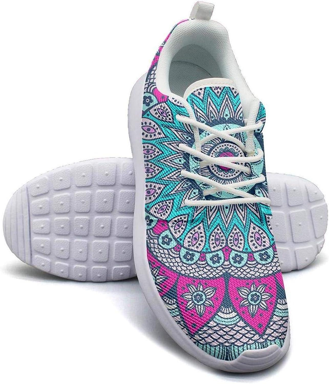 LOKIJM Mandalas Retro Decor colors Sneaker shoes for Women Spring Wear-Resistant Best Running shoes