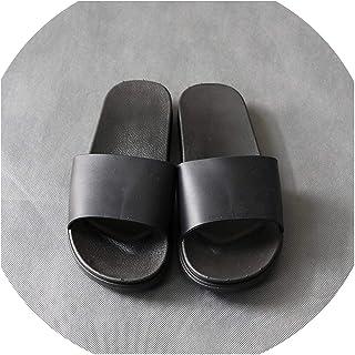 Urhome ® unisex zapatillas de casa invierno suela antideslizante peluche pantufla zapatillas