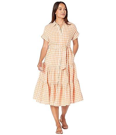 LAUREN Ralph Lauren Petite Gingham Linen Shirtdress