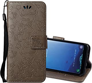 Protective Case Compatible with Samsung Compatible Samsung Galaxy S8 + / G955 Pressed Horse Cloud Print Horizontal Flip Leather Case with Holder & Card Slots & Wallet & Lanyard Phone case