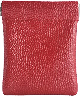 """Faux Leather Coin Purse, Squeeze Coin Pouch Size 3.2"""" X 3.8"""", Change Holder for Men & Women"""